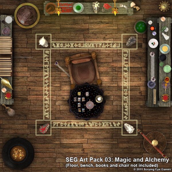 Example of Magic And Alchemy Art Pack